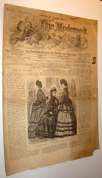 Die Modenwelt, January 16th, 1870 - An Illustrated Magazine for Fashions and Fancy-work, Multiple Contributors