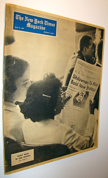 The New York Times Magazine, April 24, 1960 - Civil Rights Cover Photo, Various Contributors