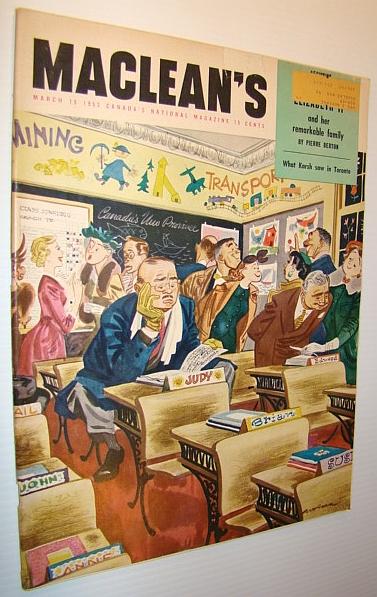 Maclean's Magazine, March 15, 1953, Multiple Contributors