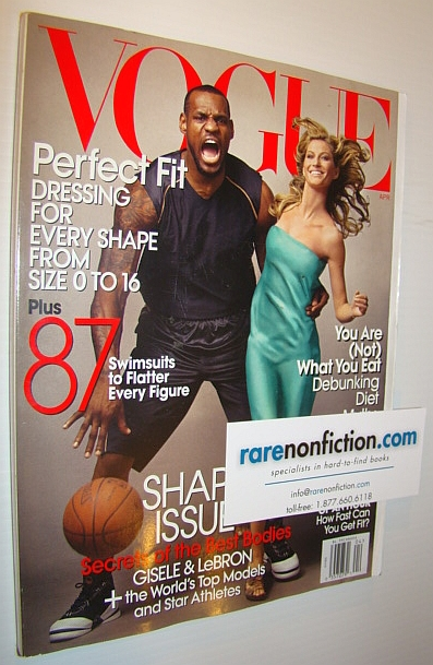 Image for Vogue Magazine (US Edition), April 2008 - LeBron James and Gisele on Cover