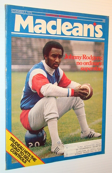 Image for Maclean's - Canada's Weekly Newsmagazine, November 3, 1975 - Montreal Alouette Running Back Johnny Rodgers Cover Photo