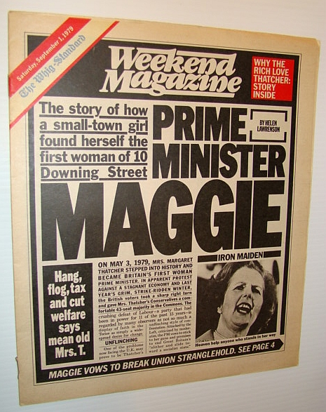 Weekend Magazine, September 1, 1979 (Canadian Newspaper Supplement)  - Margaret Thatcher - The Iron Maiden, Lawrenson, Helen; Gross, Colleen; Charney, Ann; Abley, Mark; Batten, Jack; Oliver, Margo