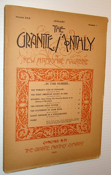 Image for The Granite Monthly - A New Hampshire Magazine - January 1901