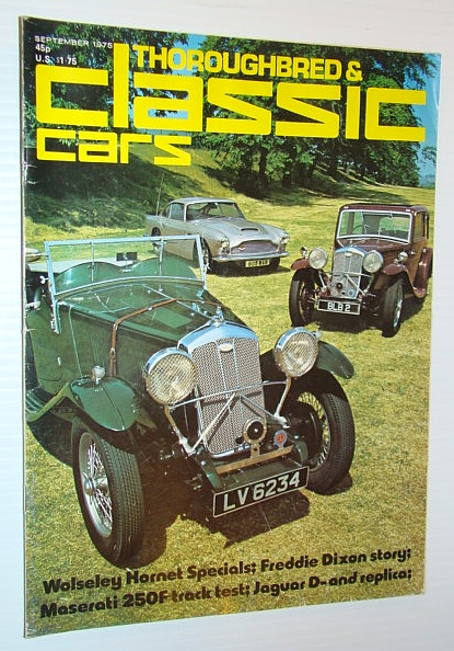 Thoroughbred and Classic Cars Magazine, September 1975 - Freddie Dixon