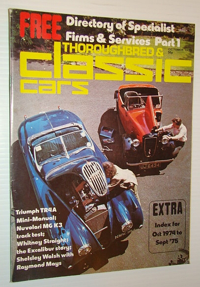 Thoroughbred and Classic Cars Magazine, October 1975 - Whitney Straight