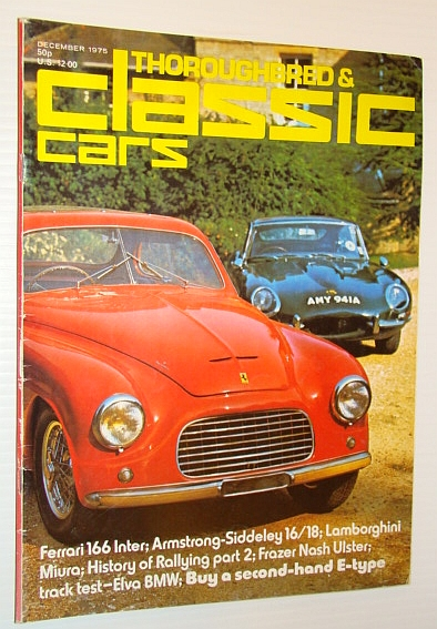 Thoroughbred and Classic Cars Magazine, December 1975 - Kaye Don