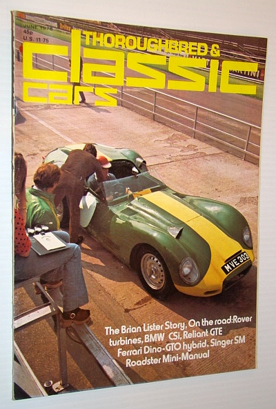 Thoroughbred and Classid Cars Magazine, June 1975 - The Brian Lister Story