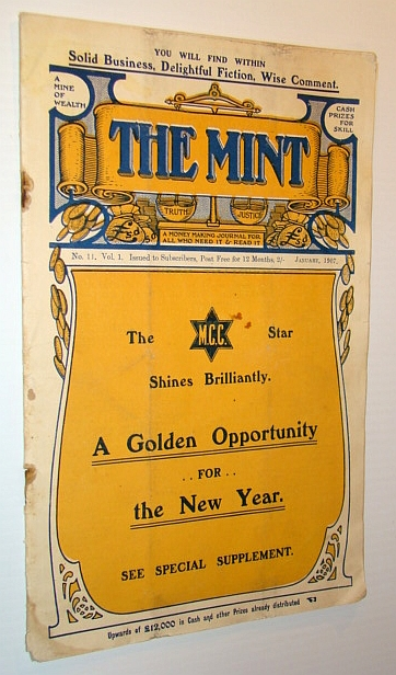 Image for The Mint - A Money Making Journal For All Who Need It & Read It, No. 11, Vol. 1, January 1907