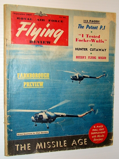Royal Air Force Flying Review Magazine, September 1957, Sander, Hans; Norris, Geoffrey; Gatland, Kenneth; Yakovlev, Alexander; Lambermont, Paul; Luukkanen, Eino