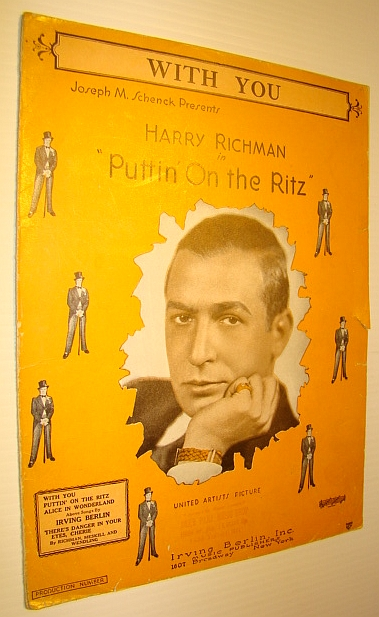 """Image for With You - Sheet Music for Piano and Voice with Ukulele Chords - from """"Puttin' on the Ritz"""""""