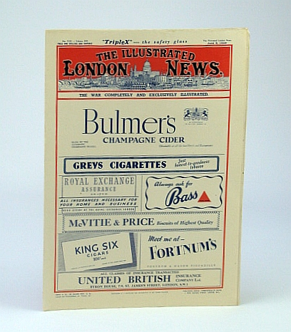 The Illustrated London News (ILN), Saturday, June 6, 1942 - The Making of a Halifax Bomber, Bryant, Arthur; Falls, Cyril; Squire, Sir John;