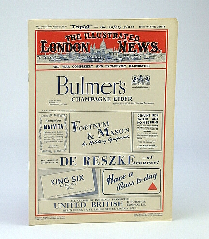 "The Illustrated London News (ILN), June 7, 1941 - Sinking of the ""Bismarck"", Bryant, Arthur; Falls, Cyril"