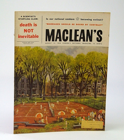 Image for Maclean's - Canada's National Magazine, August (Aug.) 15, 1959 - Winnipeg's Maverick of the Sports Mike, Jack Wells