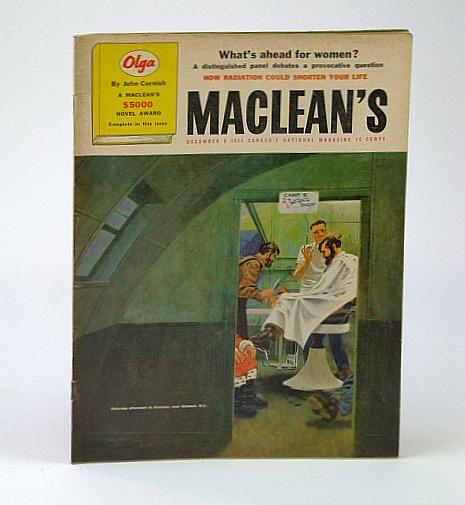 Image for Maclean's - Canada's National Magazine, December (Dec.) 8, 1956 - Labour Leader Huguette / Johnny Lombardi