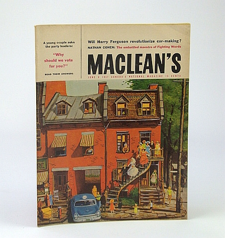 Image for Maclean's, Canada's National Magazine, June 8, 1957 - Muriel Sprague Richardson Feature / The Man Behind Laura Secord Chocolates