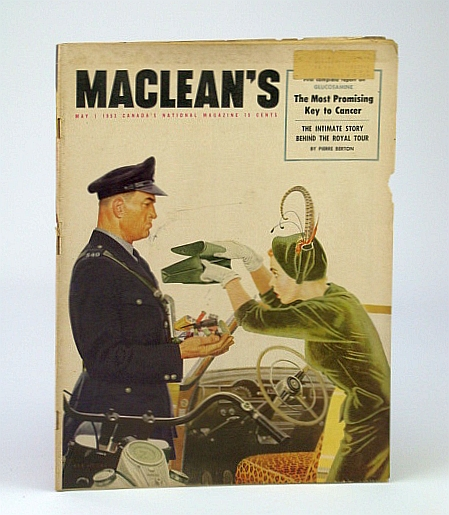 Image for Maclean's, Canada's National Magazine, May 1, 1953 - Is Glucosamine the Key to Cancer? / Malenkov / Cyrus Eaton