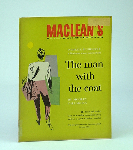 Image for Maclean's, Canada's National Magazine, April (Apr.) 16, 1955 -  The Man With the Coat (Complete in This issue)