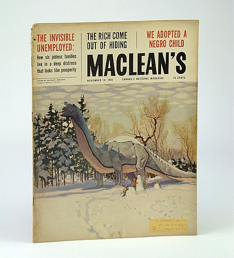 Maclean's - Canada's National Magazine, November (Nov.) 19, 1960 - We Adoped a Negro / John Fienberg, Gardner, Ray; MAnning, Herbert C.; Croft, Frank; DeWolf, Harry G.; Huycke, Joy; Lolli, Giorgio; Richerl, Mordecai; et al