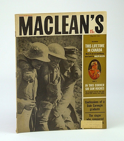 Maclean's - Canada's National Magazine, May 20, 1961 - The Apprenticeship of Mordecai Richler / Aksel Schiotz / African Diary, Allen, Ralph; Mair, Shirley; Richler, Mordecai; Krantz, Judith; gardner, Ray; Stollery, Peter; Heine, William C.