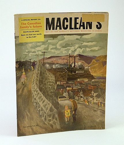 Maclean's - Canada's National Magazine, May 26, 1956 - Barbara Chilcott / The World's Biggest Fire Department, Hutton, Eric; Allen, R.; Katz, S.; Moon, B.; Croft, F.; Cummings, Parke; Sheldon, Michael; Tumpane, Frank; et al