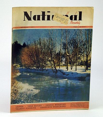 National Home Monthly Magazine, January (Jan.) 1941 - Homing Pigeons as Emergency Messengers, Stewart, Dr. H.L.; Neergaard, G.; Sapper; Josselyn, T.; Wheatley, D.; Batley, V.; R.A.F. Wing-Commander; Bayne, E.