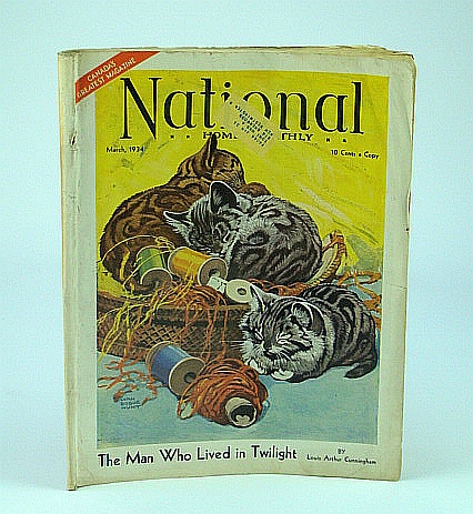 "National Home Monthly Magazine, March 1934 - ""The Incredible Romance of Adolph Hitler"" / The Grand National Horse Race, Cunningham, L.; Cave, H.; Howard-Burleigh, F.; Dickie, F.; Atlee, B.; Mosher, J.; Phayre, I.; Smith, W."