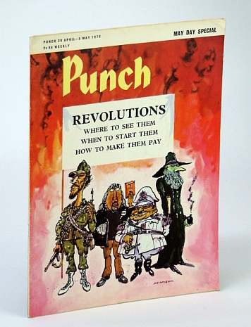 Punch Magazine - May Day Special - 29 April - 5 May 1970: Revolutions Cover Illustration, Coren, Alan; et al