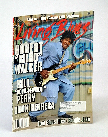 "Image for Living Blues - The Magazine of the African American Blues Tradition, #228, December (Dec.) 2013 - Robert ""Bilbo"" Walker Cover Photo"