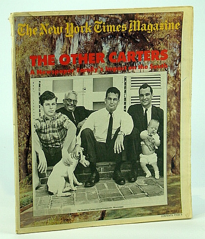 The New York Times Magazine, September (Sept.) 18, 1977 -  Hodding Carter Clan Cover Photo, Baker, Russell; Lyons, Gene; Lindsey, Robert; Gelb, Barbara; Funk, Ben; Christie, Agatha; Prial, Frank J.; Rayner, William P.; Millstein, Gilbert