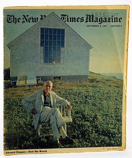 The New York Times Magazine, September (Sept.) 5, 1971 -  Edward Hopper Cover Photo, Michener, James A.; Wooten, James T.; Sterba, James P.; Mellow, James R.; Crenshaw, M.A.; Skurka, N.
