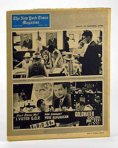 The New York Times Magazine, August (Aug.) 30, 1964 -  Long Island is Becoming Long City, Baldwin, Hanson W.; Lipset, Seymour Martin; Smith, Hedrick; Crankshaw, Edward; McCarthy, Joe; Payne, Robert; Benjamin, Philip