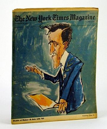The New York Times Magazine, November (Nov.) 22, 1970 - Edmund Sixtus Muskie Cover Illustration and Article, Honan, William H.; Sheehan, Susan; Hoffer, Eric; Meehan, Thomas; Sherrill, Robert; Peterson, P.; Gardner, R.; Hewitt, J.; Skurka, N.