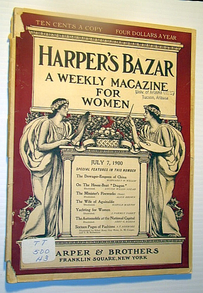 Image for Harper's Bazar (Bazaar) - A Weekly Magazine for Women, July 7, 1900 - The Automobile at the National Capital