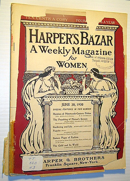 Image for Harper's Bazar (Bazaar) - A Weekly Magazine for Women, June 30, 1900 - New Effects in Lace Waist Trimmings