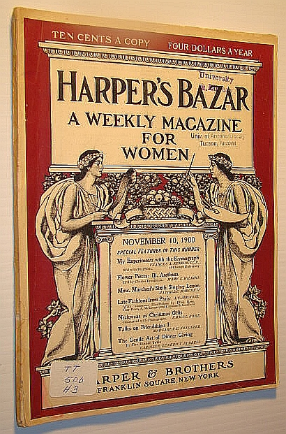 Image for Harper's Bazar (Bazaar) - A Weekly Magazine for Women, November 10, 1900 - My Experiments with the Kymograph