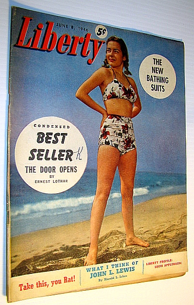 "Image for Liberty Magazine, June 8, 1946 - Louis Applebaum Profile / ""Swimwear Edition"""