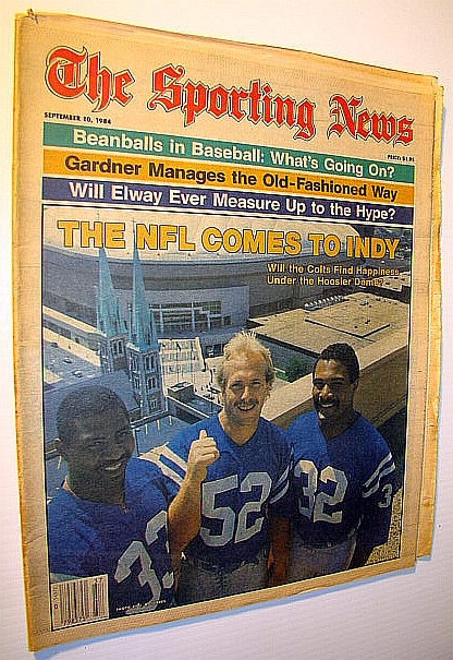 Image for The Sporting News, September 10, 1984 - Beanballs in Baseball / Cover Photo Features the NFL's Arrival in Indianapolis