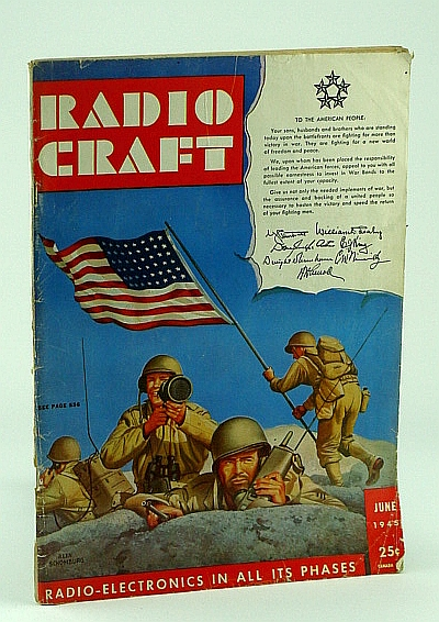 Radio Craft, and Popular Electronics, Incorporating Short Wave Craft, Television News, Radio and Television, July 1945, Volume XVI, No. 10 - Alex Schomburg Cover Art, Gernsback, H.; Lewis, R.; Schwab, L.Jr.; Queen, I.; Thomas, E.; Carlson, O.; Kearney, J.; Hoefler, D.; Altomare, R.; Hagen, L.; King, J.; Alben, M.; Melvin, B.; Embree, B.; Davis, F.; Bohr, E.Rhita, N.; et al
