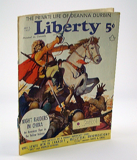 Liberty Magazine, July 3, 1937 - Night Raiders in China (Part 1), McArdle, K.J.; Beattie, K.; Cottrell, D; Enders, G.B.; Blackledge,  W.J.; Fox;, Lyttleton; Adams, S.; Hopkins; A., ;Sullivan, Ed; Gilpatric, G.; Vancerbilt, C. Jr.; Kropotkin, A.;;Allhoff, F.; Hills, B.; Abbot, A.; Abdullah, A.