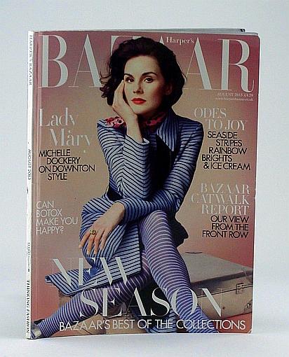 Harper's Bazaar (U.K.), August 2013 - Michelle Dockery Cover Photo, Elmhirst, Sophie; Fiennes, William; Picardie, Justine; et al
