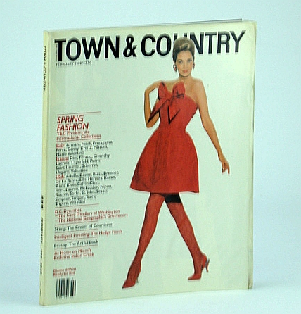 Town & (and) Country Magazine, February (Feb.) 1988 - Dianne deWitt Cover Photo, Hawk, Laura; et al