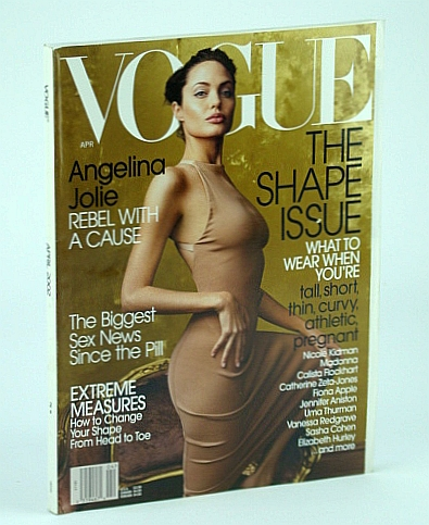 Image for Vogue (US) Magazine, April (Apr.) 2002 - Angelina Jolie Cover Photo