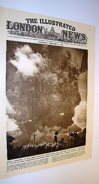 Image for The Illustrated London News (ILN), February 24, 1951 - Cover Photo of Mount Lamington Volcano in New Guinea / Marriage of the Shah of Iran