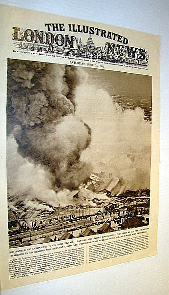 The Illustrated London News (ILN), June 21, 1952 -  Cover Photo of the Battle of Compound 76 on Koje Island, Bryant, Arthur; Falls, Cyril; Squire, Sir John