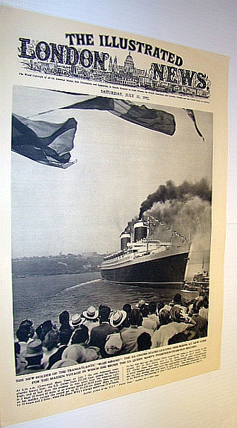 The Illustrated London News (ILN), July 12, 1952 -  Maiden Voyage of The S.S. United States, Bryant, Arthur; Falls, Cyril; Squire, Sir John