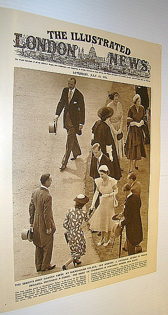 The Illustrated London News (ILN), July 19, 1952 -  Cover Photo of The Queen's First Garden Party at Buckingham Palace, Bryant, Arthur; Falls, Cyril; Squire, Sir John