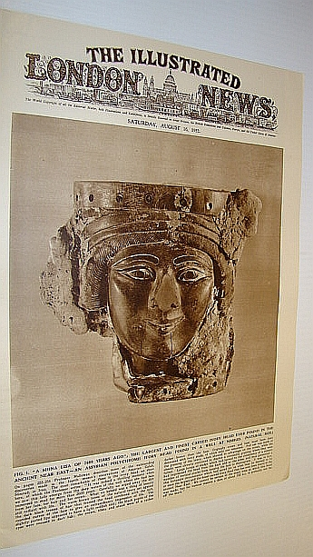 The Illustrated London News (ILN), August 16, 1952 -  Cover Photo of Assyrian Polychrome Ivory Head Found at Nimrud, Bryant, Arthur; Squire, Sir John; Mallowan, Prrof. M.E.L.