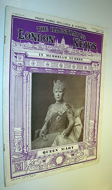Image for The Illustrated London News (ILN) Magazine, 4 April 1953 - Queen Mary in Memoriam