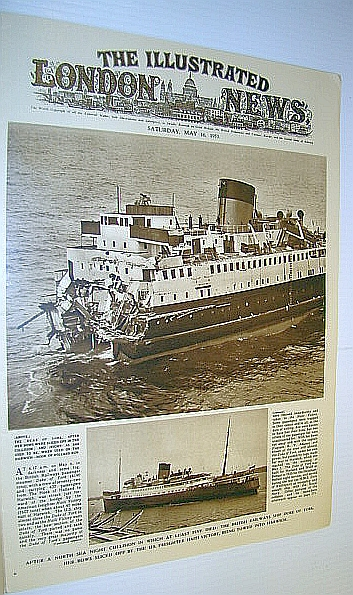 Image for The Illustrated London News (ILN) Magazine, 16 May 1953 - Collision Between the 'Duke of York' and the U.S. Freighter 'Haiti Victory'