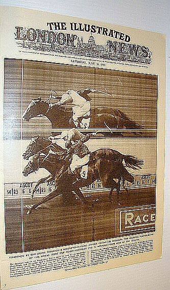 The Illustrated London News (ILN) Magazine, June 26 1954 -  Photo Finish at Ascot, Bryant, Arthur; Squire, Sir John; Falls, Cyril